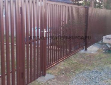 Калитка, откатные ворота, штакетник