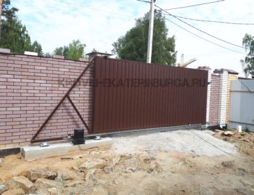 Изготовление и установка откатных ворот, г. Верхняя Пышма